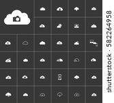 photo camera. white clouds icon ...