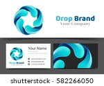 circle water drop corporate... | Shutterstock .eps vector #582266050