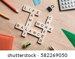 concept of harmony and balance... | Shutterstock . vector #582269050