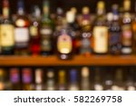 colorful alcoholic beverages on ... | Shutterstock . vector #582269758