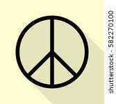 peace sign illustration. black... | Shutterstock .eps vector #582270100