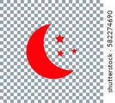 moon  star icon vector on... | Shutterstock .eps vector #582274690