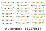 multicolored bright buntings... | Shutterstock .eps vector #582275659
