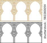eid al adha greeting... | Shutterstock .eps vector #582283054