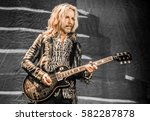 Small photo of Tommy Shaw with Styx - Pacific Amphitheater Costa Mesa CA. June 15, 2016