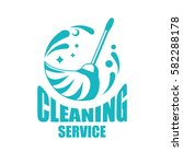 cleaning service logotype with... | Shutterstock .eps vector #582288178