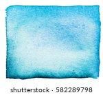 watercolor texture. blue. | Shutterstock . vector #582289798