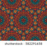 abstract ethnic colorful... | Shutterstock .eps vector #582291658