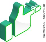 tied finger hand sign 3d... | Shutterstock .eps vector #582294850