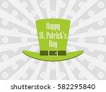 happy st. patrick's day.... | Shutterstock .eps vector #582295840
