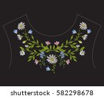 Embroidery Ethnic Neck Line...