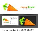 carrot vegetable orange green... | Shutterstock .eps vector #582298720
