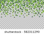 seamless pattern with clover... | Shutterstock .eps vector #582311290
