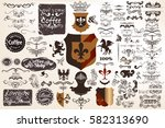big collection of vector... | Shutterstock .eps vector #582313690