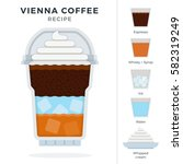 vienna ice coffee recipe in... | Shutterstock .eps vector #582319249
