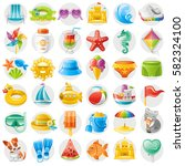 sea travel icon set  child... | Shutterstock .eps vector #582324100