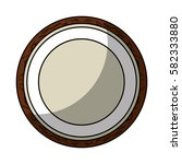 fresh fruit slice isolated icon   Shutterstock .eps vector #582333880