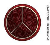 fresh fruit slice isolated icon   Shutterstock .eps vector #582333964