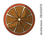 fresh fruit slice isolated icon   Shutterstock .eps vector #582333970
