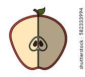 fresh fruit slice isolated icon   Shutterstock .eps vector #582333994