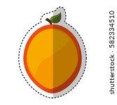 fresh fruit slice isolated icon   Shutterstock .eps vector #582334510