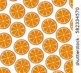 fresh fruit slice isolated icon   Shutterstock .eps vector #582334570