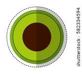 fresh fruit slice isolated icon   Shutterstock .eps vector #582334594