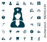 nurse icon  medical set on... | Shutterstock .eps vector #582341134
