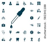 pipette icon  medical set on... | Shutterstock .eps vector #582341188
