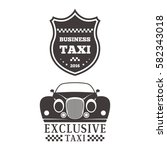 taxi badge car service business ... | Shutterstock .eps vector #582343018