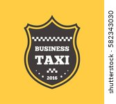 taxi badge car service business ... | Shutterstock .eps vector #582343030