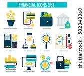 banking money financial... | Shutterstock .eps vector #582343360