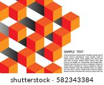 cubic geometric  abstract... | Shutterstock .eps vector #582343384