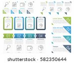 set of different infographic... | Shutterstock .eps vector #582350644