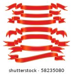vector banner set  with a gold... | Shutterstock .eps vector #58235080