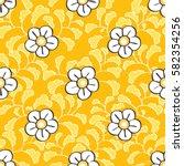 seamless japanese floral...   Shutterstock .eps vector #582354256