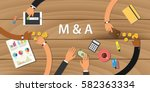 m   a merger and acquisition... | Shutterstock .eps vector #582363334