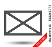envelope icon. envelope simple... | Shutterstock .eps vector #582368776