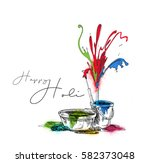 happy holi celebrations ... | Shutterstock .eps vector #582373048