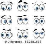 cartoon eyes in vector | Shutterstock .eps vector #582381598