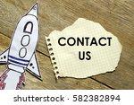 paper rocket with paper written ... | Shutterstock . vector #582382894