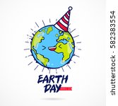 earth day. april 22. the trend... | Shutterstock .eps vector #582383554