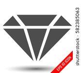 diamond icon. simple flat logo...