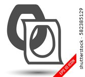 toilet seat cover. disposable... | Shutterstock .eps vector #582385129