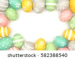 frame of hand painted pastel... | Shutterstock . vector #582388540