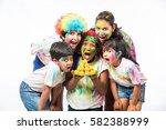5 indian small kids   friends   ... | Shutterstock . vector #582388999