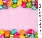 colorful easter egg double... | Shutterstock . vector #582389164