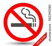 no smoking sign on white... | Shutterstock .eps vector #582390580