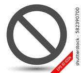 prohibition sign. prohibition... | Shutterstock .eps vector #582390700