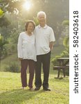 portrait of healthy and happy... | Shutterstock . vector #582403618
